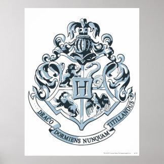 Azul del escudo de Hogwarts Póster