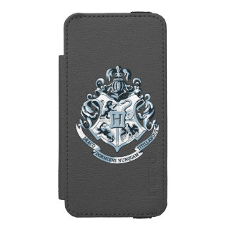Azul del escudo de Hogwarts Funda Cartera Para iPhone 5 Watson