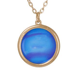 Azul del espacio de la astronomía de Neptuno Collar Dorado