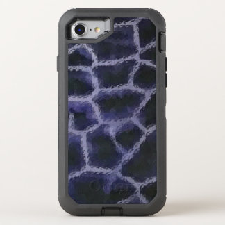 Azul del estampado de animales funda OtterBox defender para iPhone 8/7