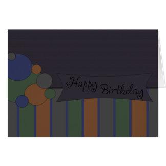 Azul del feliz cumpleaños tarjeta