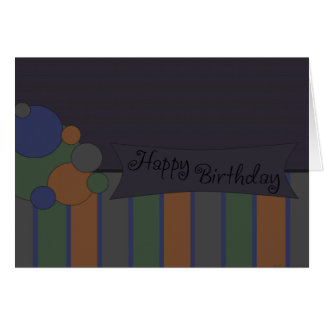 Azul del feliz cumpleaños tarjeta de felicitación