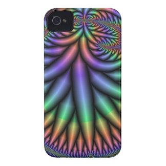 Azul del fractal Case-Mate iPhone 4 carcasas