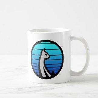Azul del gato taza de café