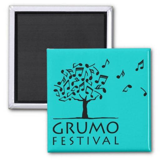 Azul del imán del festival de Grumo