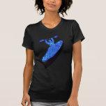 Azul del kajak australis camisetas