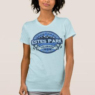 Azul del logotipo del color del parque de Estes Camisetas