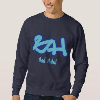 Azul del logotipo del mún hábito sudadera