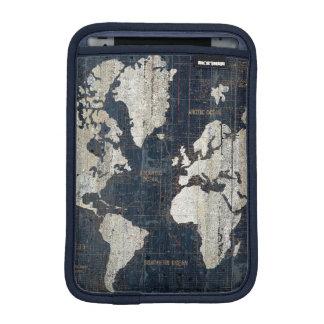 Azul del mapa de Viejo Mundo Funda Para iPad Mini