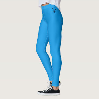 Azul del mar profundo con sus iniciales leggings