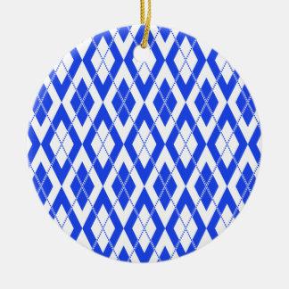 Azul del modelo 2 de Argyle Ornaments Para Arbol De Navidad
