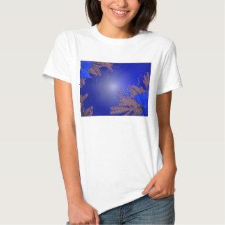 Azul del Poinsettia del navidad Camisas