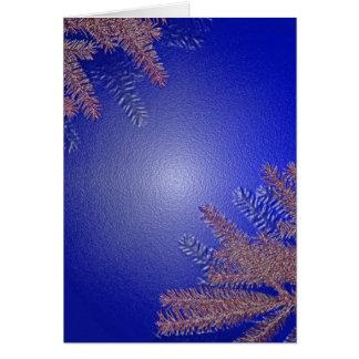 Azul del Poinsettia del navidad Tarjeta De Felicitación