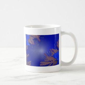 Azul del Poinsettia del navidad Taza De Café
