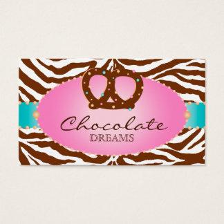 Azul del pretzel del chocolate de la tarjeta de