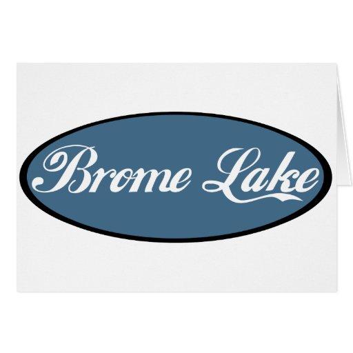 Azul del recuerdo del lago Brome Tarjetón