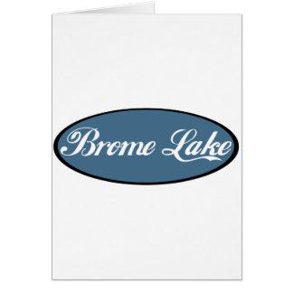 Azul del recuerdo del lago Brome Tarjeta De Felicitación