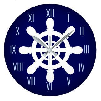 Azul del reloj de la rueda del marinero