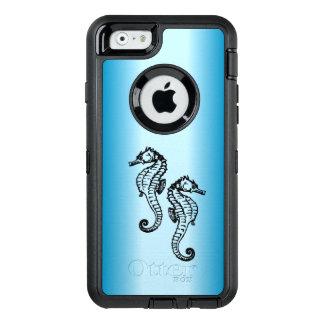 Azul del Seahorse Funda OtterBox Defender Para iPhone 6