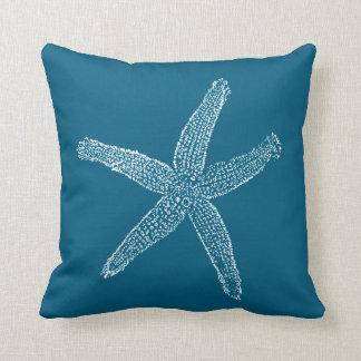 Azul del trullo del ejemplo de las estrellas de cojín decorativo