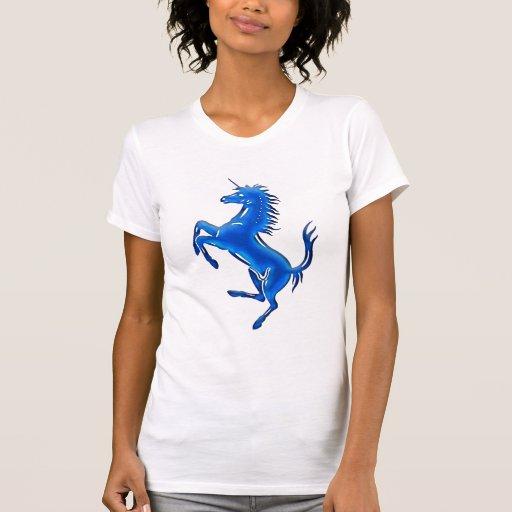 Azul del unicornio 1 camiseta