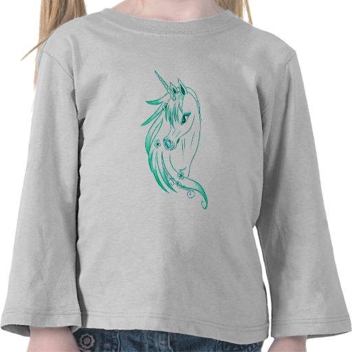 Azul del unicornio camisetas