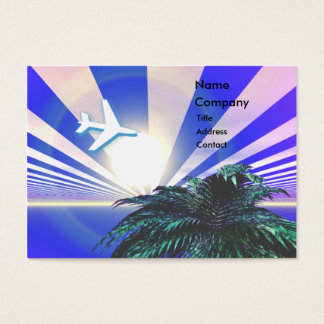 Azul del viaje de la isla - rechoncho tarjeta de visita