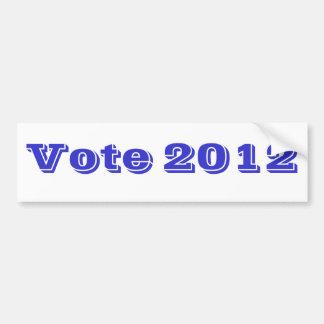 Azul del voto 2012 pegatina de parachoque