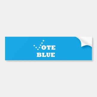 Azul del voto - pegatina para coche