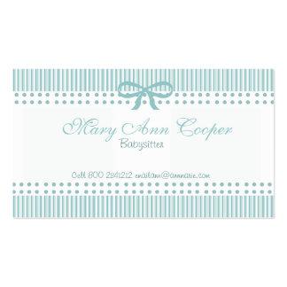 Azul delicado del negocio lindo de la nin@era tarjetas de visita