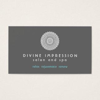 Azul divino 2 de la impresión tarjeta de negocios