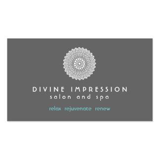 Azul divino 2 de la impresión tarjetas de visita