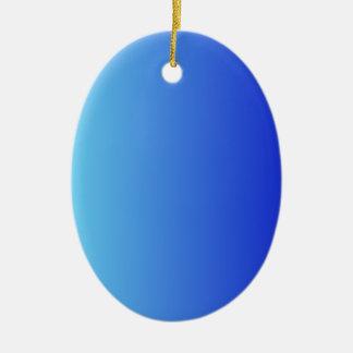 Azul eléctrico a la pendiente vertical azul media adorno ovalado de cerámica