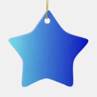 Azul eléctrico a la pendiente vertical azul media ornamentos para reyes magos