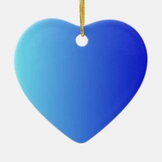 Azul eléctrico a la pendiente vertical azul media adorno de cerámica en forma de corazón