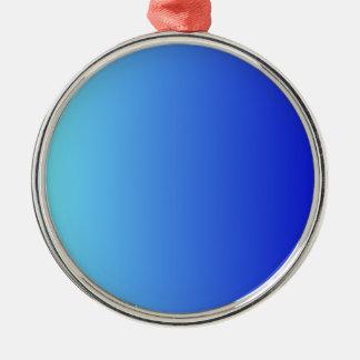 Azul eléctrico a la pendiente vertical azul media ornamentos de reyes magos