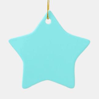 Azul eléctrico adorno de cerámica en forma de estrella