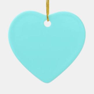 Azul eléctrico adorno de cerámica en forma de corazón