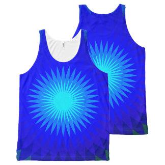 Azul eléctrico camiseta de tirantes con estampado integral