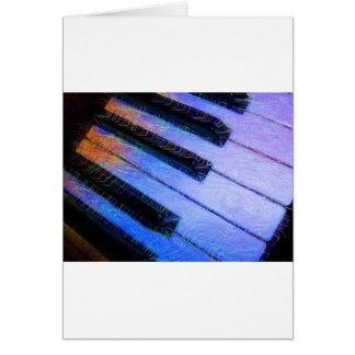 Azul eléctrico del piano felicitación