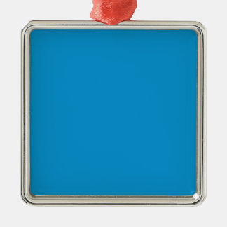 Azul eléctrico rico adorno cuadrado plateado