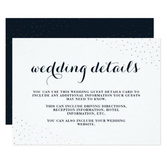 Azul elegante y blanco con los puntos que casan invitación 8,9 x 12,7 cm
