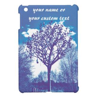 azul embotado del árbol del metal