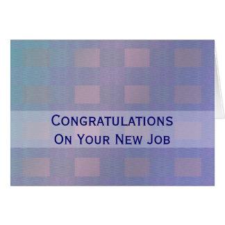 Azul en colores pastel del trabajo de la tarjeta de felicitación