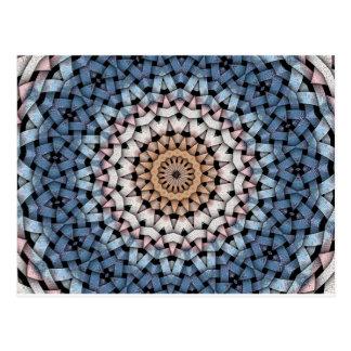azul en colores pastel postal