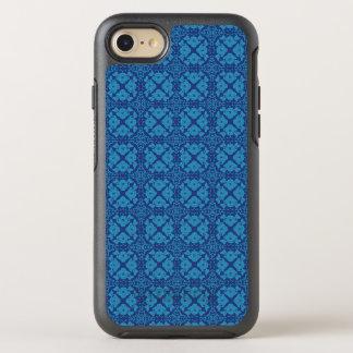 Azul en Patttern geométrico floral azul Funda OtterBox Symmetry Para iPhone 8/7