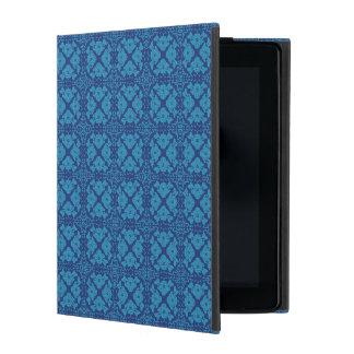 Azul en Patttern geométrico floral azul Funda Para iPad