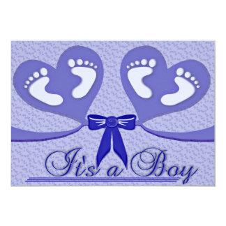 """Azul """"es invitación adaptable del nacimiento de un"""