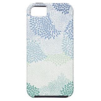 "Azul estallado ""flor"" iPhone 5 coberturas"