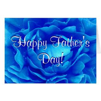 Azul feliz del día de padre subió tarjeta de felicitación